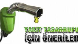 Yakıt Tasarruf Yöntemleri